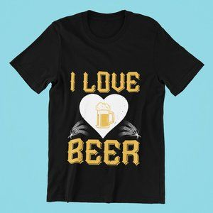 I Love Beer Black TShirt